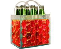 Chill It - 6 Bottle Insulated Bottle Bag - Red-CHILLIT6RED