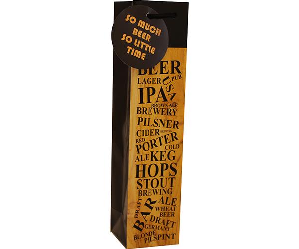 Printed Paper Craft Beer Bag -Beer List