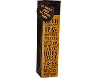 Printed Paper Craft Beer Bag -Beer List-CP1BEERLIST