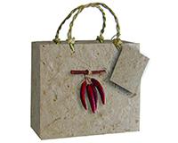 2 Bottle Handmade Paper Gourmet Bag - Chili-GB2CHILI