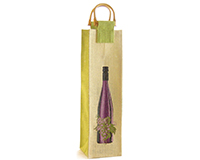 Jute Wine Bottle Bag - Wine & Dine-J1WINEANDVINE