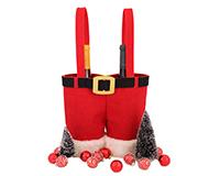 Holiday J2 Santa Pants- Jute Decorative  Double Bottle Bags J2SANTAPANTS
