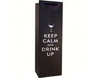 Foil Kraft Single Wine Bag - Drink Up-K1DRINKUP