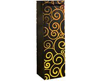K1 Gold Swirls - Printed Paper Bottle Bags-K1GOLDSWIRLS