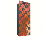 Printed Paper Wine Bottle Bag - Love-K1LOVE