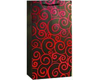 K2 Red Swirls - Printed Paper Bottle Bags-K2REDSWIRLS