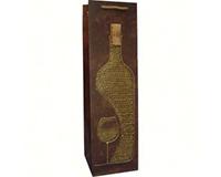 Liquid Gold Single Wine Bag - Gold-LG1VGOLD