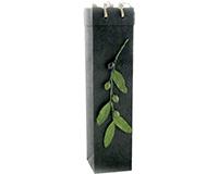 OB1 Branch Black  - Handmade Paper Olive Oil Bottle Bags OB1-BBRANCH