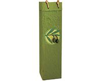 OB1 Castilla Olive - Handmade Paper Olive Oil Bottle Bags OB1CASTILLAOLIV