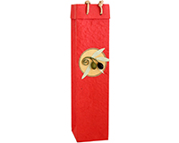 OB1 Castilla Red - Handmade Paper Olive Oil Bottle Bags OB1CASTILLARED