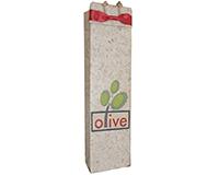 OB1 Red Bow - Handmade Paper Olive Oil Bottle Bags OB1REDBOW