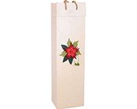 OB1 Red Flower - Handmade Paper Olive Oil Bottle Bags OB1REDFLOWER