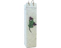 Holiday OB1 Scarlett Berry - Handmade Paper Olive Oil Bottle Bags OB1SCARLETTBERR