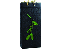 OB2 Branch Black - Handmade Paper 2 Bottle Olive Oil Bags OB2-BBRANCH