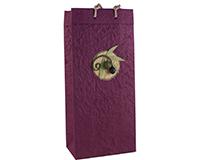 OB2 Castilla Burgundy - Handmade Paper 2 Bottle Olive Oil Bags OB2CASTILLABURG