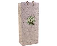 OB2 Castilla Natural - Handmade Paper 2 Bottle Olive Oil Bags OB2CASTILLANATU
