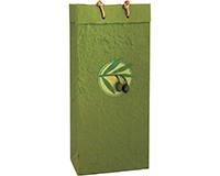 OB2 Castilla Olive - Handmade Paper 2 Bottle Olive Oil Bags OB2CASTILLAOLIV