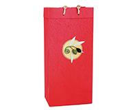 OB2 Castilla Red - Handmade Paper 2 Bottle Olive Oil Bags OB2CASTILLARED