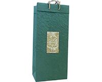 Holiday OB2 Evergreen - Handmade Paper 2 Bottle Olive Oil Bags OB2EVERGREEN