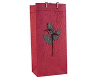 OB2 Holly - Handmade Paper 2 Bottle Olive Oil Bags OB2HOLLY
