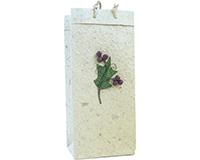 Holiday OB2 Scarlett Berry - Handmade Paper 2 Bottle Olive Oil Bags OB2SCARLETTBERR