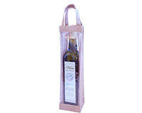 Jute Olive Oil Bottle Bag - Clear-OJ1NCLEAR