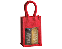 OJ2 Sampler Red - Jute 2 Sample Bottle Olive Oil Bags OJ2SAMPLERRED