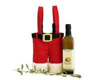 Holiday OJ2 Santa Pants - Jute 2 Bottle Olive Oil Bags OJ2SANTAPANTS