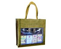 OJ4 Sampler Olive - Jute 4 Sample Bottle Olive Oil Bags OJ4SAMPLEROLIVE