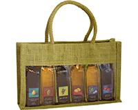 OJ6 Sampler Olive - Jute 6 Sample Bottle Olive Oil Bags OJ6SAMPLEROLIVE