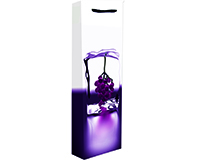 Printed Paper Wine Bottle Bag  - Ice-P1ICE