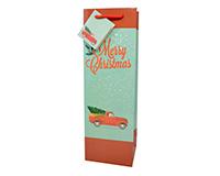 Vintage Truck Christmas Wine Bag P1OLDTRUCK