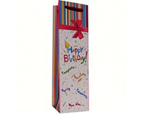 Printed Paper Wine Bottle Bag  - Happy Birthday-P1PARTY