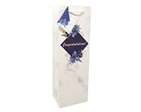 White Congratulations Wine Bag-P1WHITECONGRATS