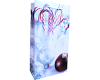 P2 Candy Cane - Printed Paper Two Bottle Bags-P2CANDYCANE