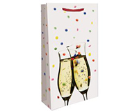 Printed Paper Double Wine Bag - Confetti-P2CONFETTI