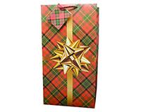 Gold Gift 2 Bottle Wine Bag-P2GOLDGIFT
