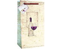 P2 Old World - Printed Paper Two Bottle Bags-P2OLDWORLD