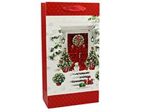 OUT FOR THE SEASON P2 Red Door - Printed Paper Wine Bags-P2REDDOOR