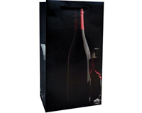 Printed Paper Double Wine Bag - Silhouette-P2SILHOUETTE