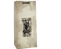 P2 Wine Shop - Printed Paper Two Bottle Bags-P2WINESHOP