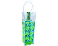 Wave 1 Blue-Green - Insulated Chill Bottle Bags-WAVE1BLUE-GREEN