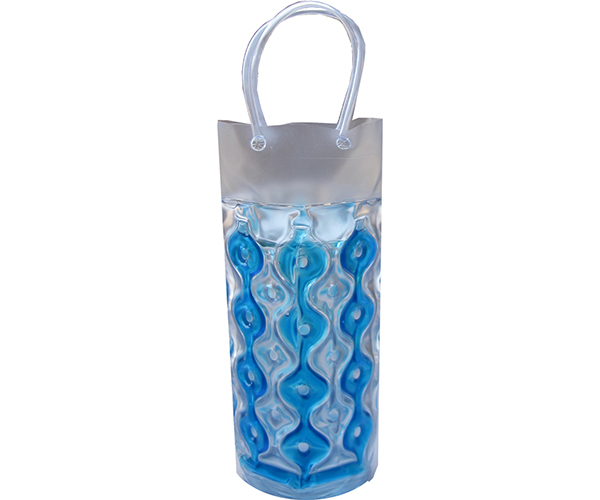 Wave 1C Blue-Clear CYLINDER - Insulated Chill It Bottle Bags