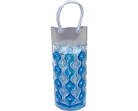 Wave 1C Blue-Clear CYLINDER - Insulated Chill It Bottle Bags-WAVE1CBLUE-CLEA