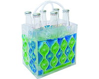 Wave 6 Blue-Green - Insulated Chill Bottle Bags-WAVE6BLUE-GREEN