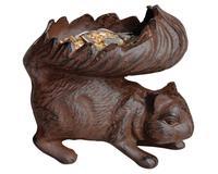 Squirrel Bird Feeder Antique Brown-BFBFB265