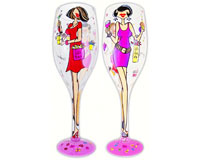 Wine Glass Display XL Fabulous At Any Age, 20 DISPWGXLFABULOU