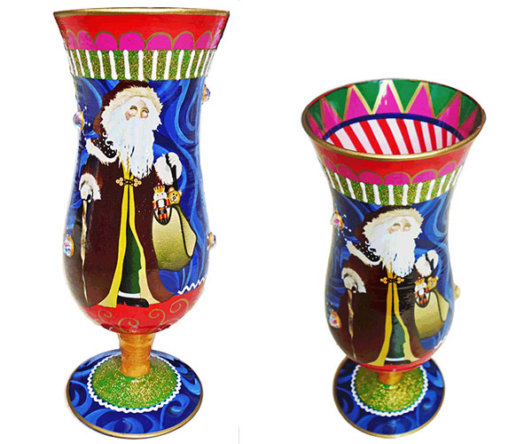 IB Hurricane Glass Santa IBHSANTA'