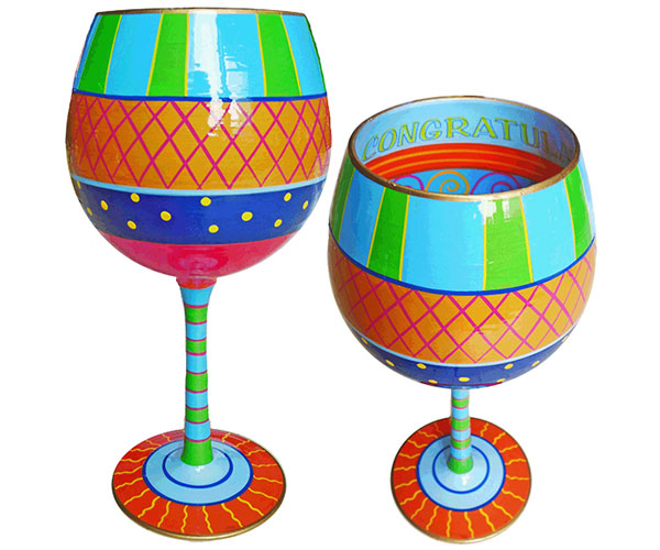 IB Wine Glass Congratulations (IBWCONGRAT)