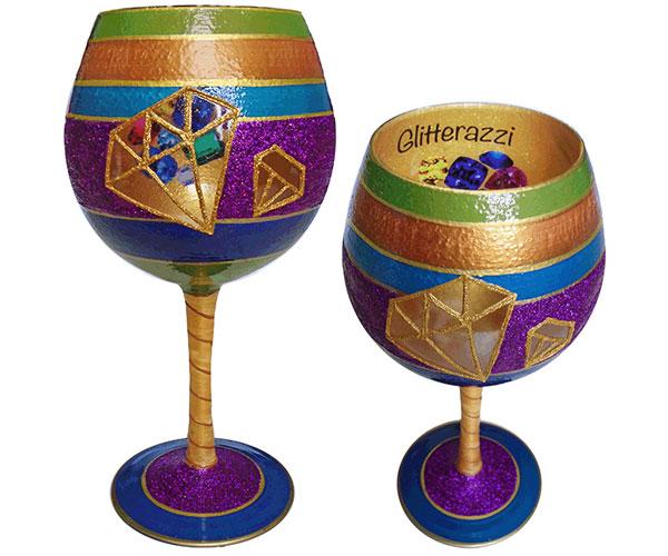 IB Wine Glass Glitterazzi (IBWGLITTERAZZI)
